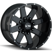 Ion Style 141 Black Milled Wheels
