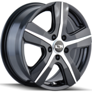Ion Style 101 Black Machined Wheels