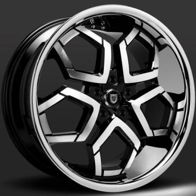 Lexani Hydra Black Machined Wheels