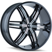 Mazzi 792 Rush Black Machinek Wheels