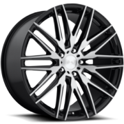 Niche M165 Anzio Black Machined Wheels