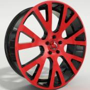 Pente Forseti Red and Black Wheels
