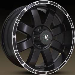 Remington 8-Point Black Machined Wheels