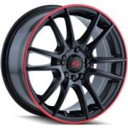 Sacchi S77 Silver Black with Red Stripe