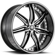 Savini Forged SV58-S Black and White Wheels