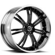 Savini Forged SV24-S Black and Chrome Wheels