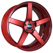 STR 607 Neon Red Wheels