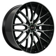 STR 615 Black Machined Wheels