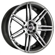 STR 619 Black Chrome Wheels