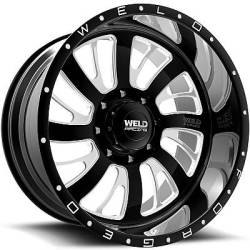 Weld Racing XT Falcata 8 Black Milled Wheels