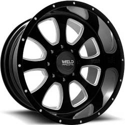 Weld Racing XT Renegade 8 Black Milled Wheels