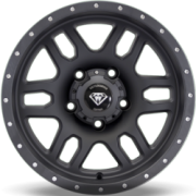 White Diamond 3244 16x8 5x139.7 Matte Black Wheels