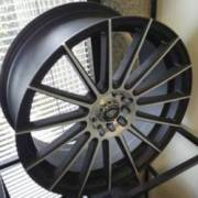 White Diamond Wheels W3193 Matte Silver and Black