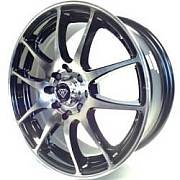 White Diamond 3199 Machined Black Wheels
