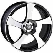 White Diamond 5833 Machined Black Wheels