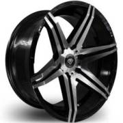 White Diamond W8154 7Machine Black Wheels