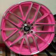 White Diamond 0029 Pink and Polished Wheels