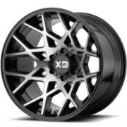XD832 Chopstix Gloss Black Machined Wheels