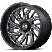 XD126 Surge Satin Black Milled Wheels