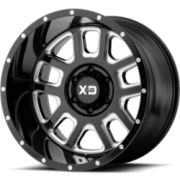 XD Series XD828 Black Milled Wheels