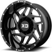XD Series XD836 Fury Gloss Black Milled Wheels
