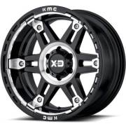 XD840 Spy II Gloss Black Machined Wheels