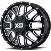 XD843 Renegade Black Milled Front Dually Wheels