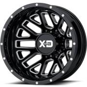 XD843 Renegade Black Milled Rear Dually Wheels